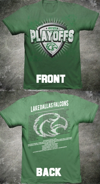2010 Texas High School Football Playoffs mockup shirt