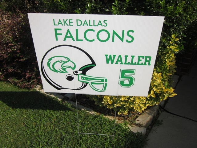 Falcon football yard sign