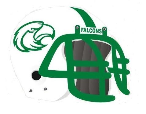 Lake Dallas Falcons helmet