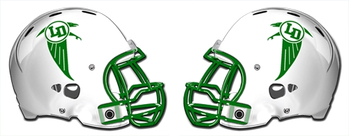 Lake Dallas Falcons helmets
